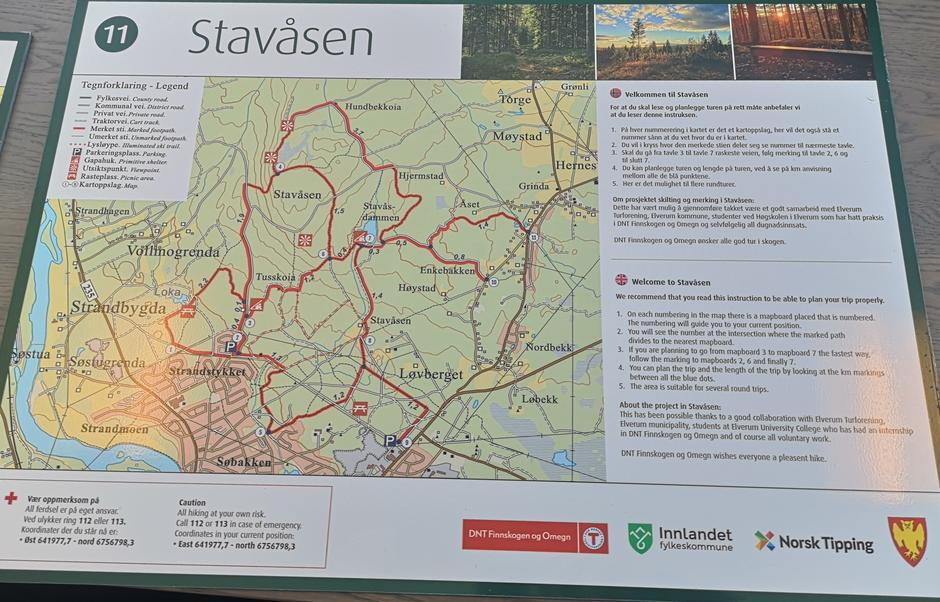 Ny karttavle til Stavåsen