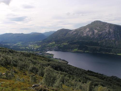 Utsikt frå Hamarsegga.