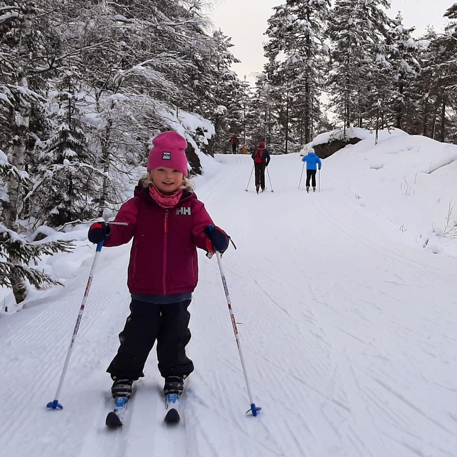 5 år gamle Emma Hegland Moe.
