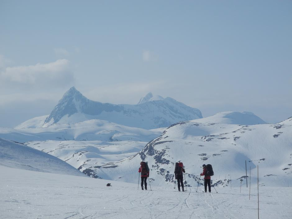 Jotunheimen, ruta Yksendalsbu-Fondsbu, vinter 2014.