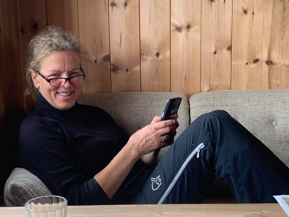 Hyttevert på Hadlaskard, Ingrid Haukeland.