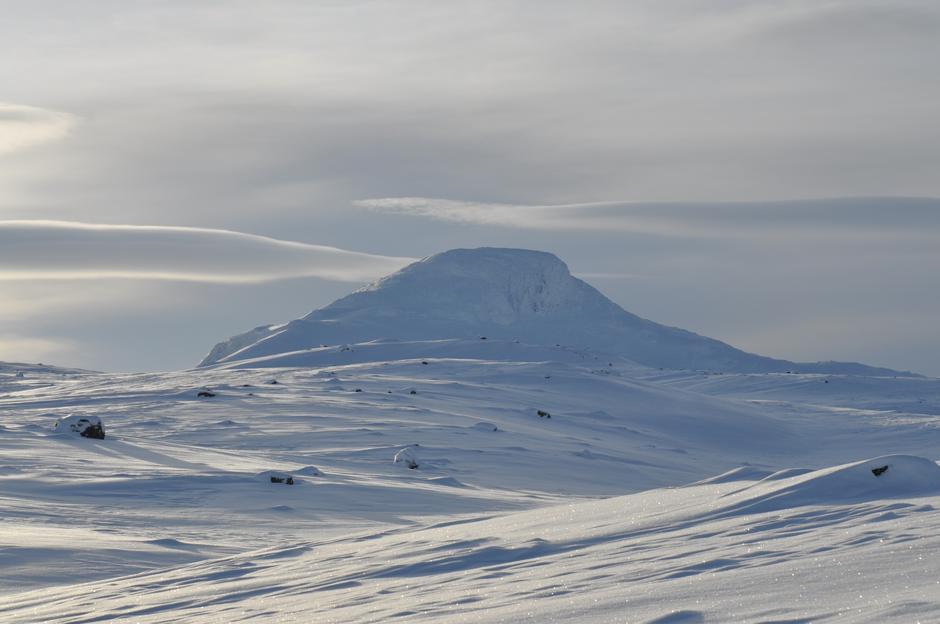 Området rundt Sulebu den 28. januar 2019