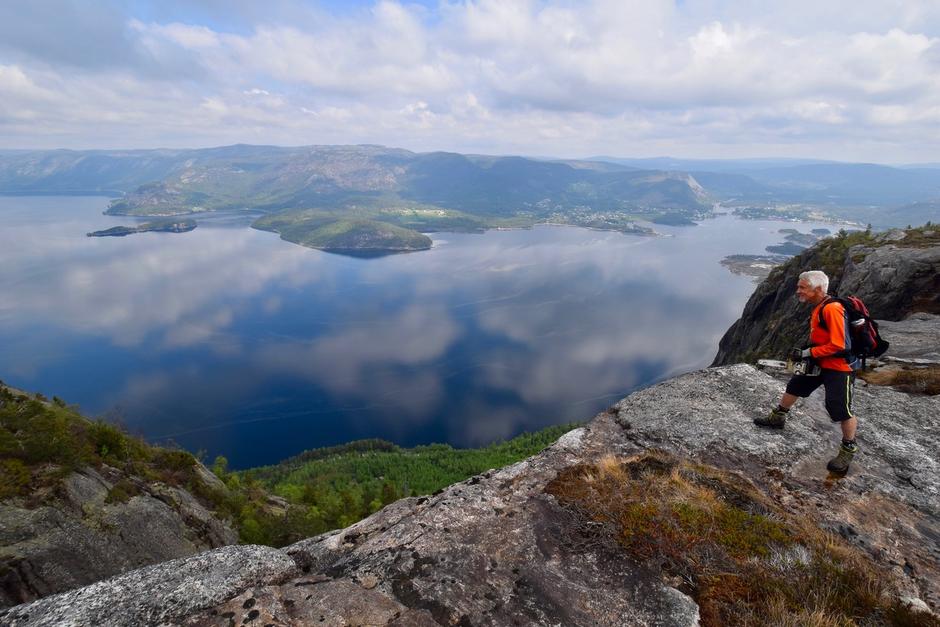 Utsikt frå Svallto på Langfjell.