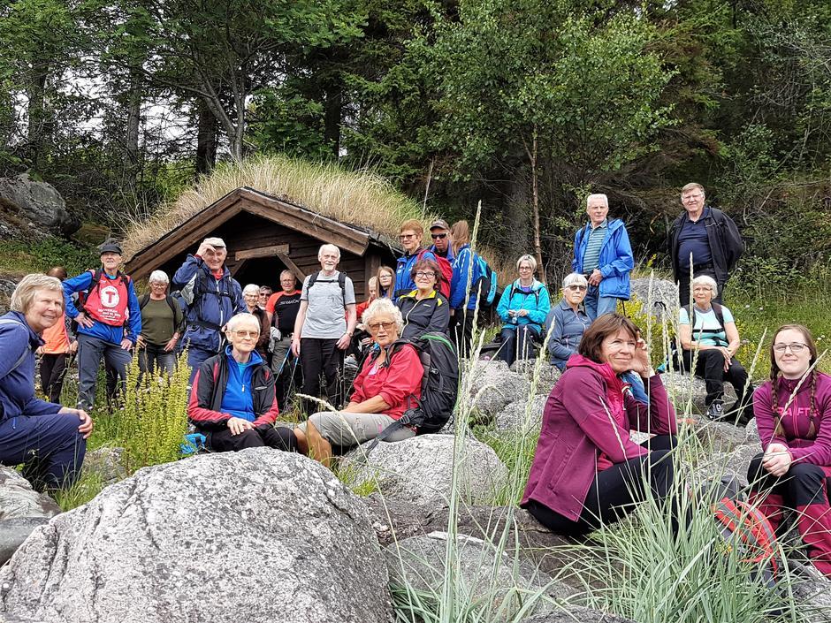 Deltakere på jubileumsturen på Inderøy