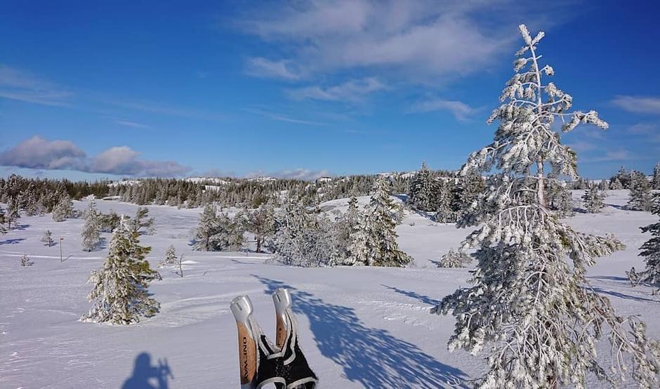 Storslått utsikt på vei fra Svanstul til Sommerseter.
