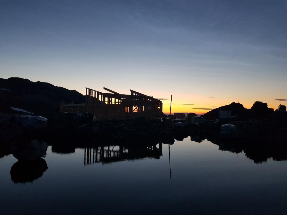 Solnedgang på Breidablik, 16. juli 2018.