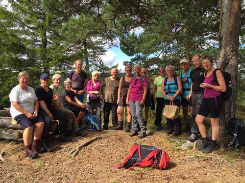 16 deltagere fikk en flott tur søndag 14. august.