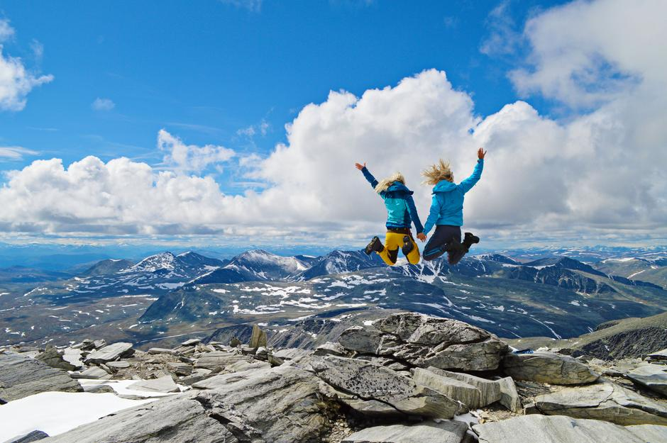 Toppen av Storronden 2138 moh, Rondane Nasjonalpark.