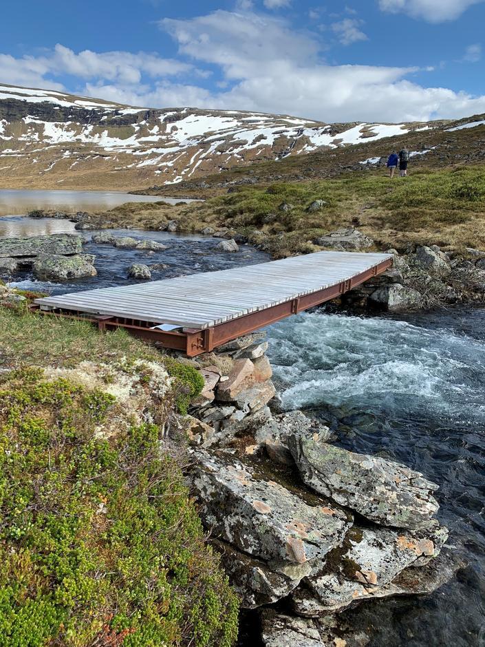 Onsdag 9.6: På vei til Åsedalen fra Stølsdammen/Stølsvatnet i Stølsheimen.