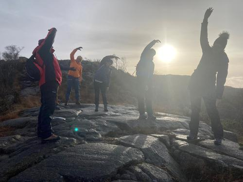 Tur og yoga på Gramstad