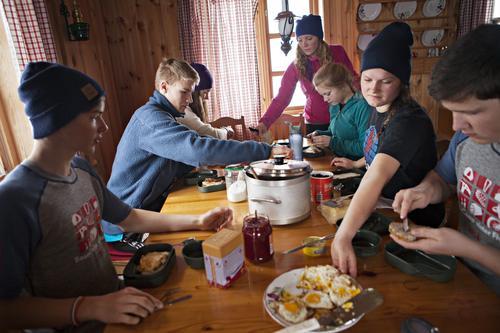 Frokost på hytta