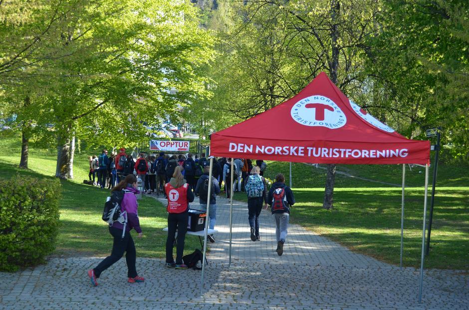 Start fra byparken i Drammen