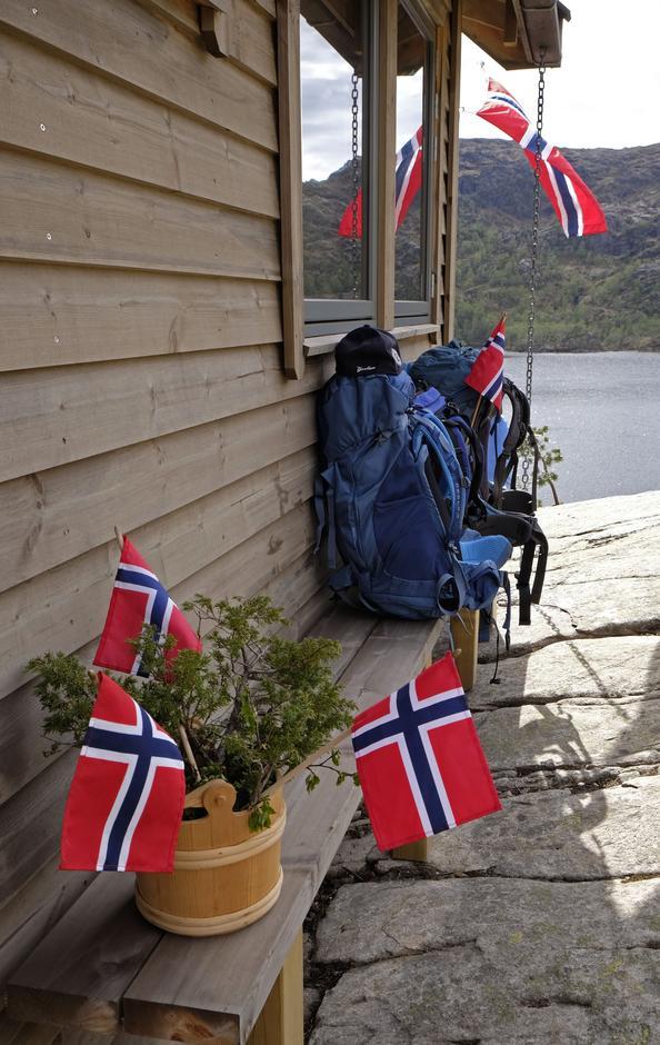 Feststemning i fjellet.