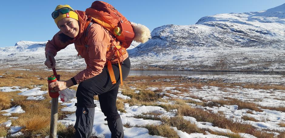 Liv Synnøve Hoel er en av rutefadderne i DNT Romsdal. Hun har ansvar mellom Isfjorden og Måsvassbu via Loftskaret.