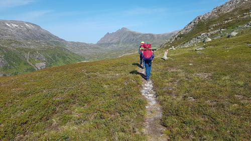 På veg mellom Kongsvikdalen og Håkonsbu