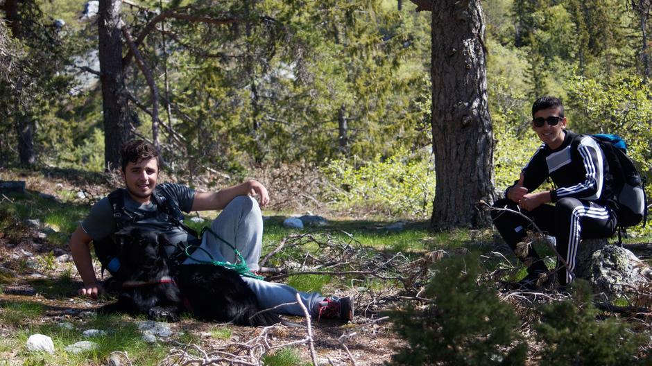 Haidar og Haidar fra Siljan koser seg på Blefjell