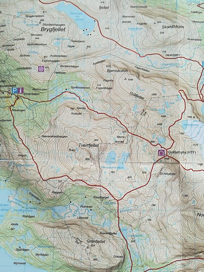 Nilsskog - Gråfjellhytta ca. 9 km
