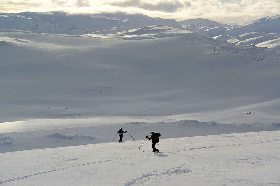 På vei ned Fra Bergsbukken, på vei mot Gullhorgabu.