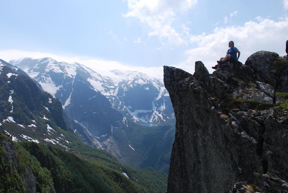 Spektakulære fjell. Nibbane over Bondhusdalen.