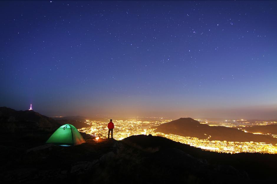 """Bildet er tatt i midten av september på fjellet """"Blåmannen"""" over Bergen."""
