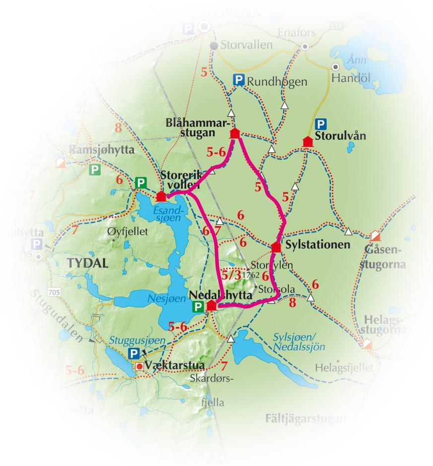 sylan kart Firkanten i Sylan — Trondhjems Turistforening sylan kart