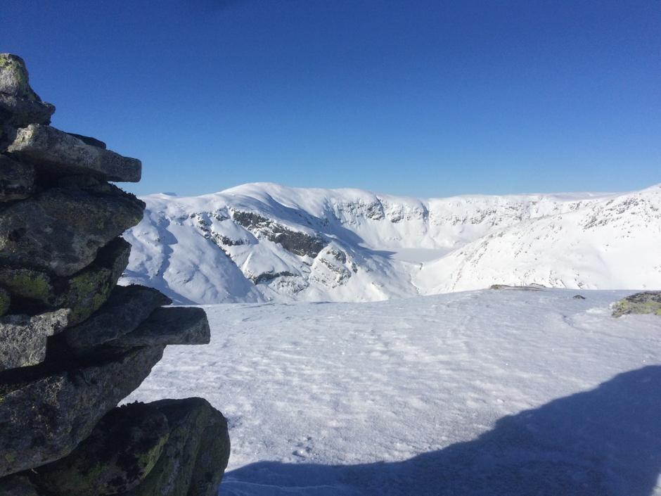 Utsyn mot Isvatnet,910 moh.