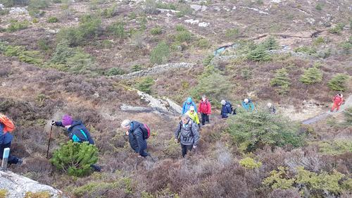 Onsdagsgruppa på rundtur på Toftøyna, nord i Øygarden kommune 24.03.2021