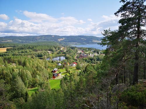 Utsikt fra Gjellberget