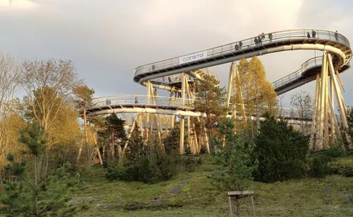 Toppen på Stovnertårnet er 15 meter over bakken