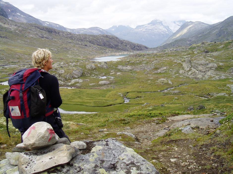Mellom Leirvassbu og Skogadalsbøen Foto: Hilde Løken Magnussen