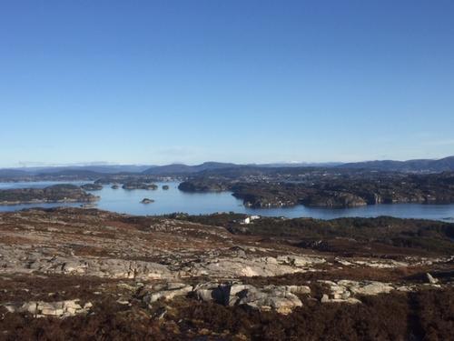 Utsikt fra Skjenet mot øst