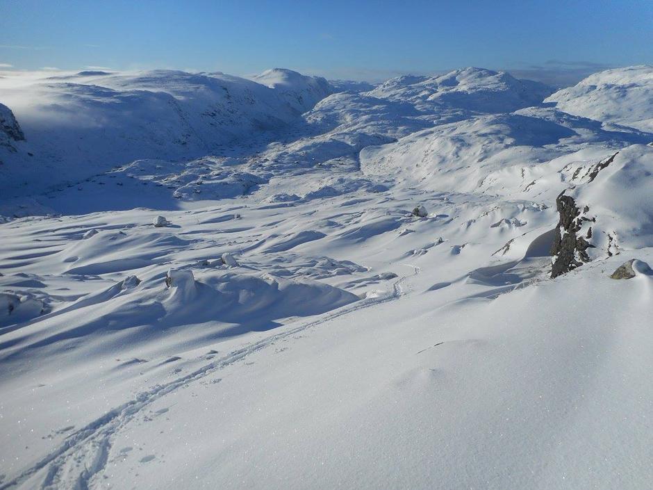 Endelig nok snø i Ryfylkeheiene. Her:  Hunnedalen 30 Januar 2017