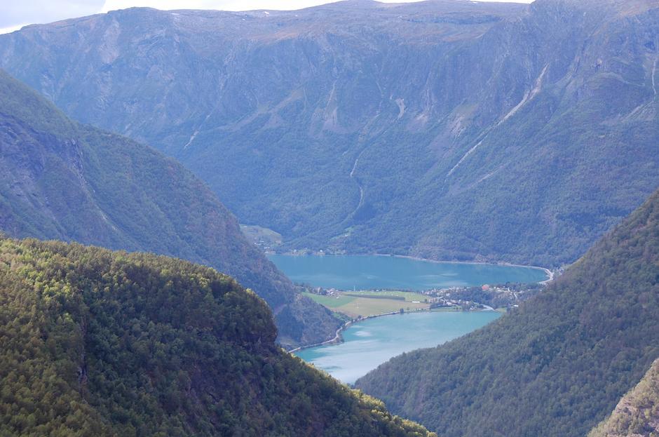 Lusterfjorden fra Fuglesteg.