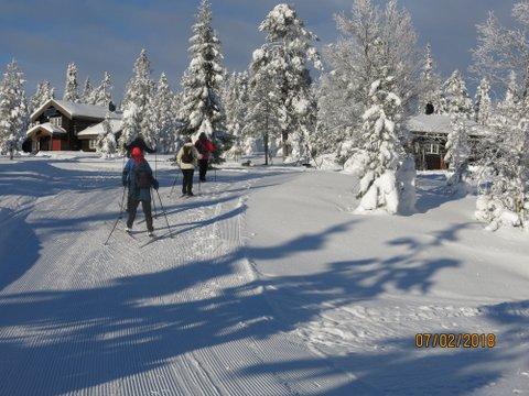 Skitur til Blåmyrkoia 07.02.2018.