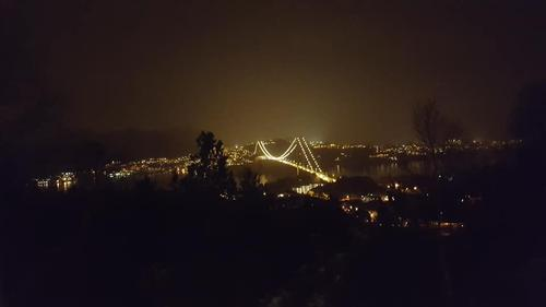 Askøybroen om kvelden 23 januar 2019