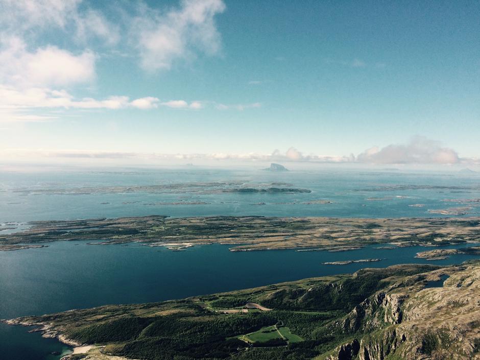 Utsikt fra Dønnamannen