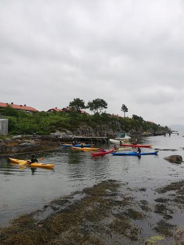 .. det var også ein fin dag på sjøen i Kinn kommune