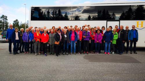 Seniorgruppa på høsttur til Høvringen