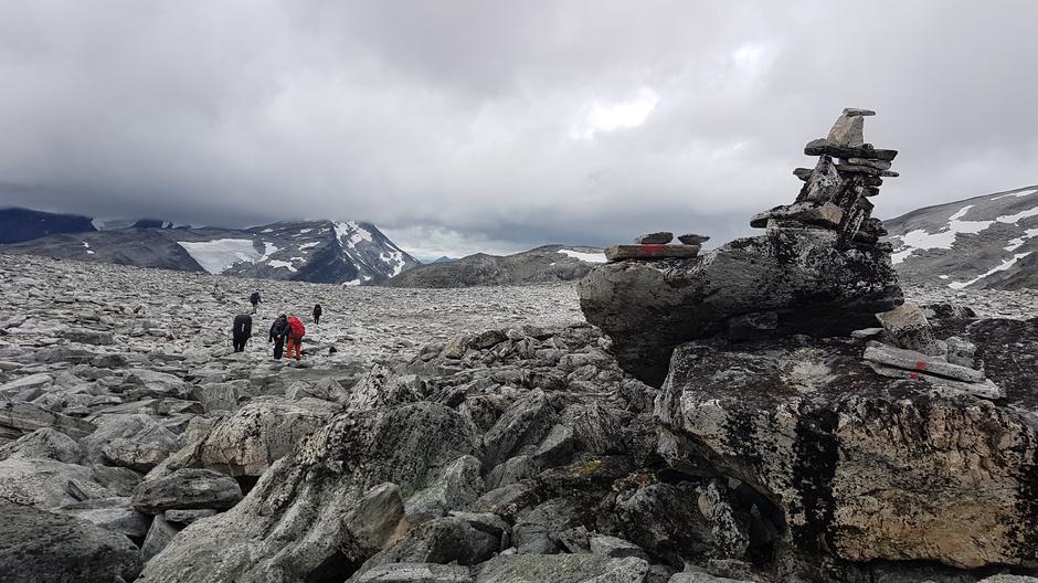 Oppe på fjellet mellom Høgtunga og Lågtunga.
