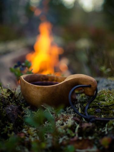 Kaffe og bålkos på Hedmarksvidda