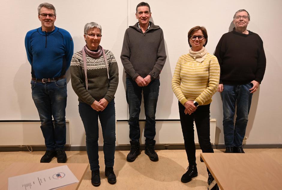Fra venstre: Thor Ludvig Løken, Brit Karlsen, Asbjørn Schjerve, Trine Lauritzen og Jan Schrøder.