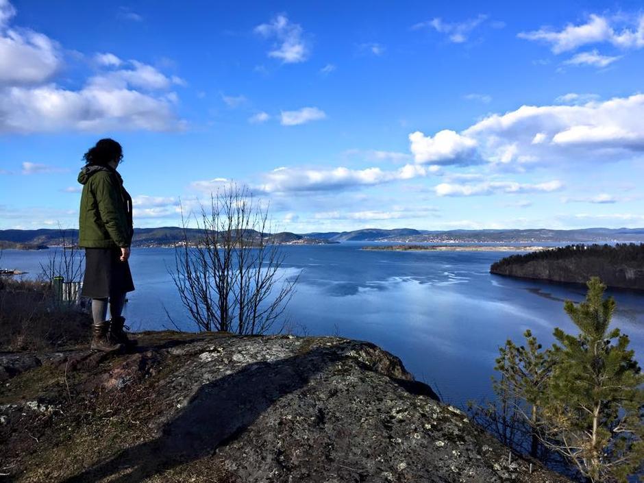 Utsikt over Holmestrandsfjorden fra Kaståsen