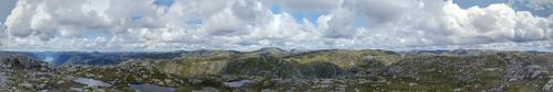 Panorama fra Geitaknuten