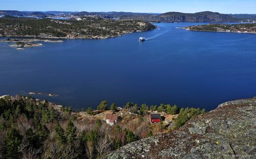 Utsikt fra Gumøy-knuten.