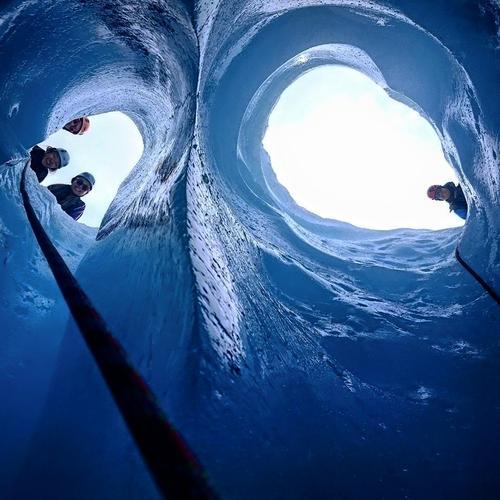 Blåis på Austerdalsbreen
