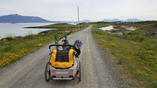 Med sykkelvogn på Krøttøya