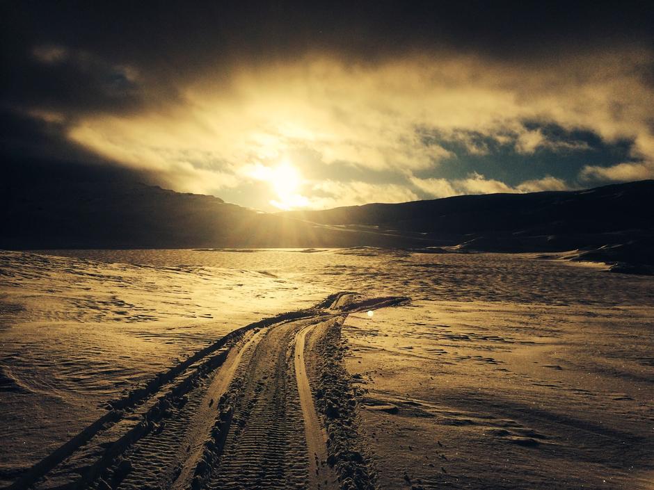 Solnedgang ved Opesjo på Hardangervidda