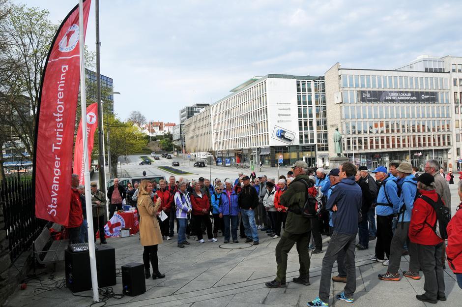 HURRA: Fra 1-års feiringen av 52 hverdagsturer hvor ordfører Christine Sagen Helgø roste dette viktige folkehelseprosjektet i Stavanger by.
