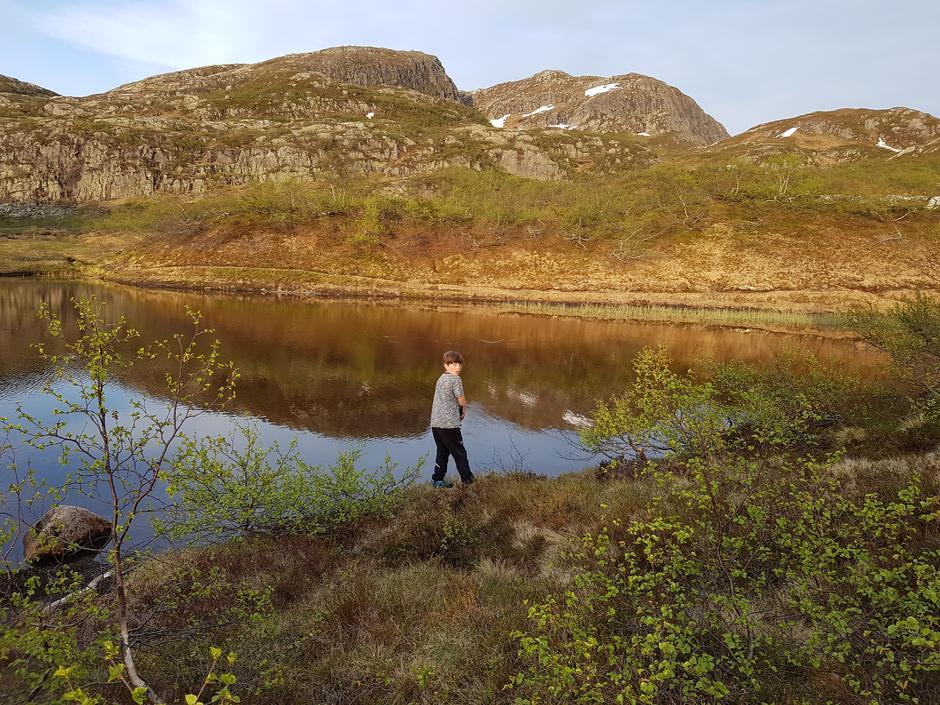 Skitt fiske! På stien fra Elsvatn til Taumevaten 7 jun.