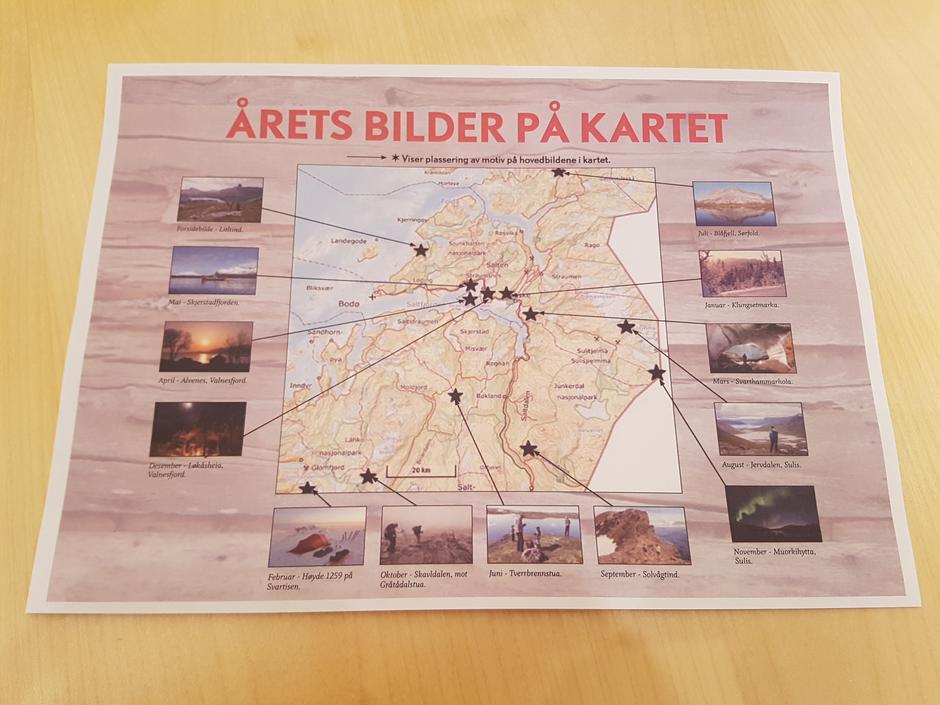 Hovedbildene er plassert på kartet